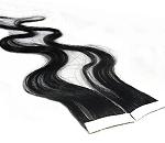 Echthaar Strips 4cm breit