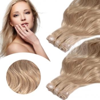 Skin Weft 90cm Haarbreite 60cm Länge Glatt Dunkelaschblond #17