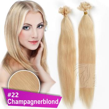 Bonding Strähnen 0,5 g 60cm #22 Champagnerblond + Set
