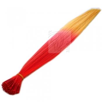 Bicolor Extensions I-Tip Bunte Kunsthaar Strähnen 0,4g 46cm #01 Rot-Orange