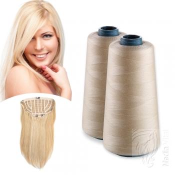 2000m Garnrolle Tressengarn Haarverlängerung Blond 100g
