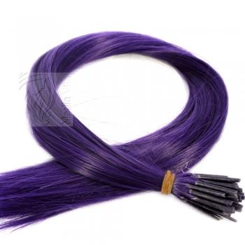 Color Extensions I-Tip Bunte Kunsthaar Strähnen 0,4g 46cm Violett