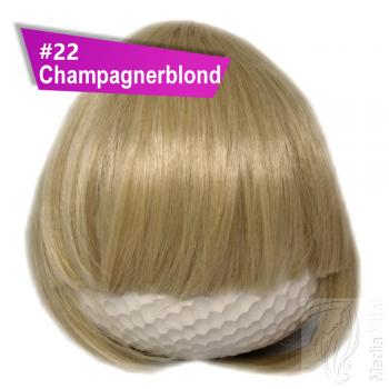 Pony Haarteil 25-30g Gerade Glatt #22 Champagnerblond + 2 Tressenclips