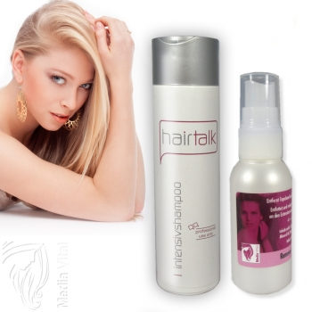 SET Hair Talk Intensiv Shampoo und Remover Tapebandlöser 50ml