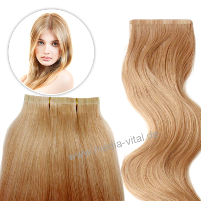 tape extensions haarverl ngerung 30 cm blond. Black Bedroom Furniture Sets. Home Design Ideas