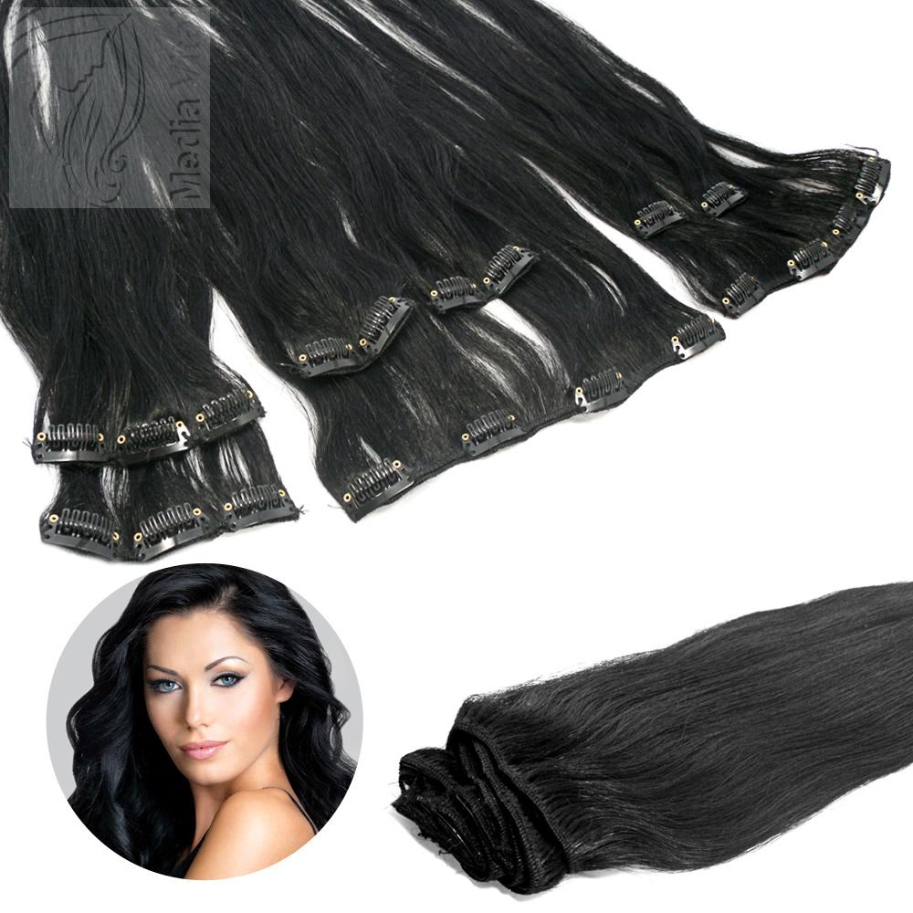 Haarverlangerung clips schwarz