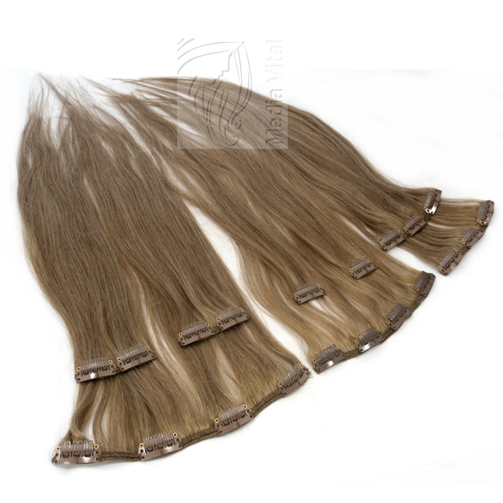 clip in extensions echthaar haarverl ngerung 60 cm. Black Bedroom Furniture Sets. Home Design Ideas