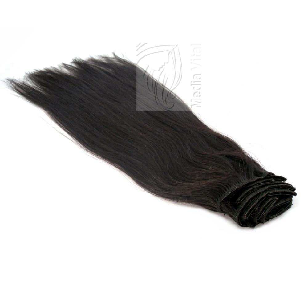 clip in extensions echthaar haarverl ngerung 40 cm. Black Bedroom Furniture Sets. Home Design Ideas