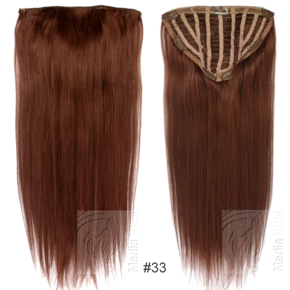 7 clip extensions 100g haarteil 50 cm 33 rotbraun 10 clips 021994. Black Bedroom Furniture Sets. Home Design Ideas