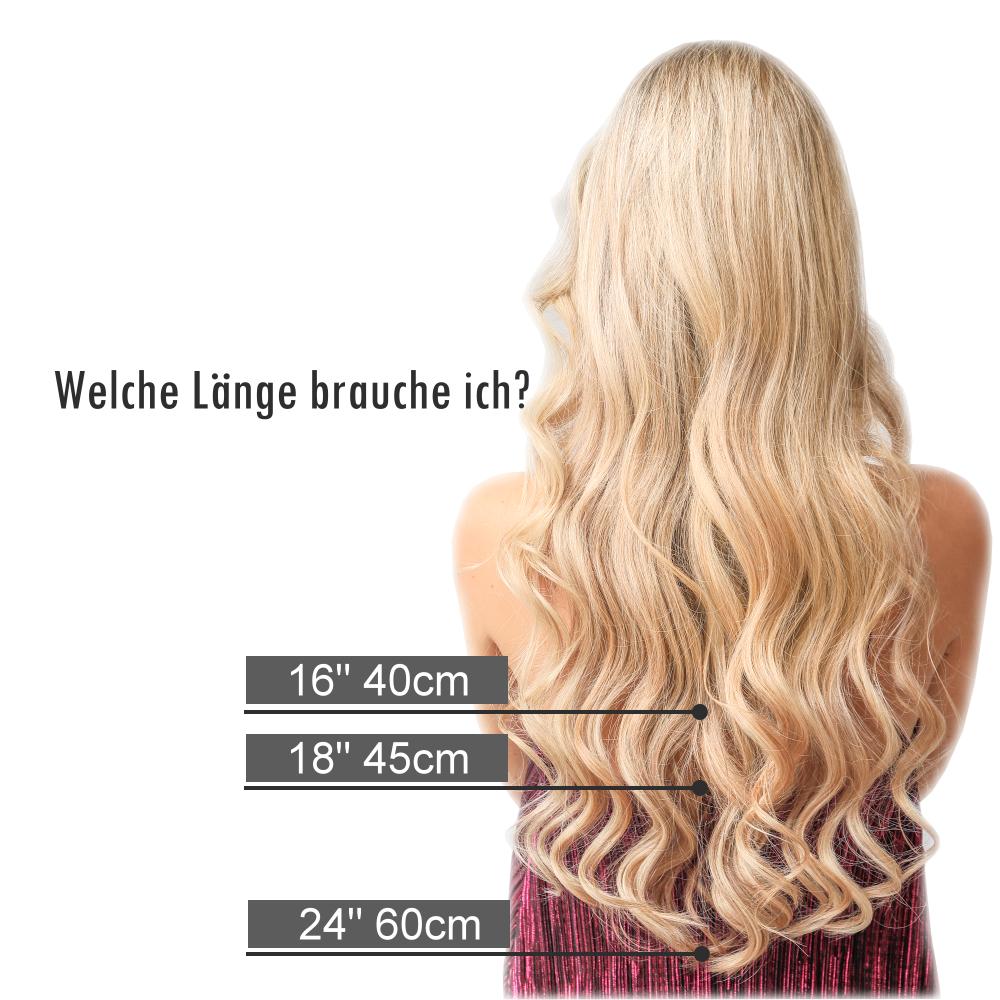 Tape Extensions 20g Echthaar Strähnen 20 cm Haarverlängerung