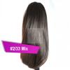 Pferdeschwanz Zopf Haarteil Ponytail 100g 30cm Glatt #2/33 Mix Rotbraun
