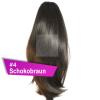 Pferdeschwanz Zopf Haarteil Ponytail 100g 30cm Glatt #4 Schokobraun