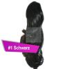 Pferdeschwanz Zopf Haarteil Ponytail 100g 30cm Gewellt #1 Schwarz