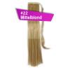 Pferdeschwanz Zopf Haarteil Ponytail 100g 30cm Glatt mit Haarband #22 Mittelblond