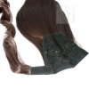 Pferdeschwanz Zopf Haarteil Ponytail 100g 30cm Glatt mit Haarband #6 Braun