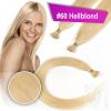 Echthaar Strähnen 0,5 g 45cm Bonding RB #60 Hellblond + 2 Clips