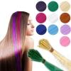 Farbige Color Extensions I-Tip Bunte Kunsthaar Strähnen 0,4g 46cm
