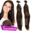 Strähnen 0,5g 45cm Haarverlängerung #2 Tiefdunkelbraun + Set