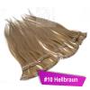 Clip In Extensions Echthaar 40 cm #10 Hellbraun 8 Tressen 100g + 4 Clips