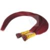 Bunte Echthaar Strähnen 0,5 g 45cm Haarverlängerung RB Dark Pink #425