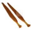 Bunte Echthaar Strähnen 0,5 g 45cm Haarverlängerung RB Orange