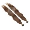 Echthaar Strähnen 0,5 g 45cm Bondings RB #4 Dunkelbraun + 2 Clips