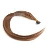 Echthaar Strähnen 0,5 g 60cm Keratin Bonding RB #6 Braun + 2 Clips