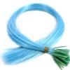 Color Extensions I-Tip Bunte Kunsthaar Strähnen 0,4g 46cm Azurblau