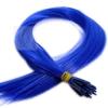 Color Extensions I-Tip Bunte Kunsthaar Strähnen 0,4g 46cm Blau