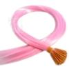 Color Extensions I-Tip Bunte Kunsthaar Strähnen 0,4g 46cm Rosa