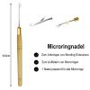 Starter Set Microring Extensions Microringnadel Bondingzange Gebogen Microringe 0,5g Silikon