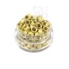 Microringe Silikon 0,5g Blond für Ringmethode Bonding Echthaar Strähnen