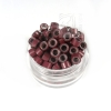Microringe Silikon 0,5g Dunkelrot Ringmethode Bonding Echthaar Strähnen