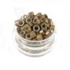 Microringe Silikon 0,5g Hellbraun Ringmethode Bonding Echthaar Strähnen