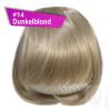 Pony Haarteil Clip In 25-30g Gerade Form Glatt #14 Dunkelblond + 2 Tressenclips
