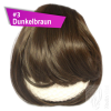 Pony Haarteil Clip In 25-30g Gerade Form Glatt #3 Dunkelbraun + 2 Tressenclips