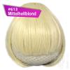 Pony Haarteil Clip In 25-30g Gerade Glatt #613 Mittelhellblond + 2 Tressenclips