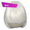 Pony Haarteil Clip In 25-30g Gerade Form Glatt Weiss + 2 Tressenclips