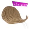 Pony Haarteil Clip In 25-30g Seitliche Form #15 Dunkelbeigeblond + 2 Tressenclips