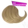 Pony Haarteil Clip In 25-30g Seitliche Form #22 Champagnerblond + 2 Tressenclips