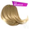 Pony Haarteil Clip In 25-30g Seitliche Form #24 Mittelblond + 2 Tressenclips