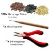 Starter Set für Microring Extensions Microringnadel Bondingzange Microringe 1g Silikon