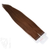 Tape On Extensions Remy Echthaar 45cm Tresse 2g Rotbraun #33