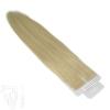 Tape On Extensions Remy Echthaar 45cm Tresse 2g Mittelhellblond #613