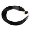 Echthaar Strähnen 1 g 45cm Haarverlängerung #1 Schwarz + Set