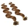 Bonding Echthaar Strähnen 1 g 45cm #6 Braun + Zubehör Set