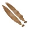 Bonding Echthaar Strähnen 1 g 60 cm #8 Mittelbraun + Zubehör Set