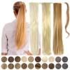 Pferdeschwanz Zopf Haarteil Ponytail 100g 60cm Glatt mit Haarband