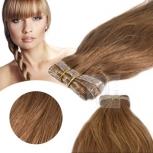 Skin Weft Haarverlängerung 60cm Länge Hellgoldbraun #12