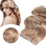 Skin Weft Haarverlängerung 60cm Länge Dunkelbeigeblond #15